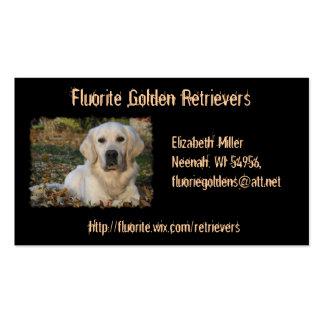 Tarjeta de visita de encargo del perro del golden