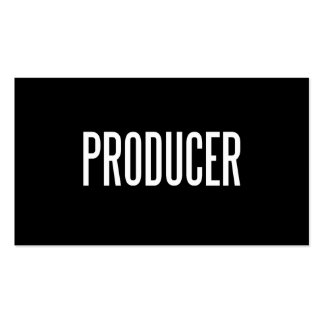 Tarjeta de visita de encargo del productor (papel
