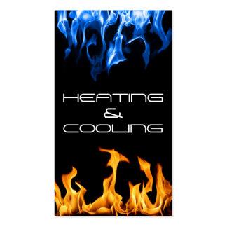 Tarjeta de visita de enfriamiento de la calefacció