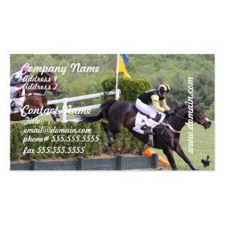 Tarjeta de visita de Eventing de los caballos