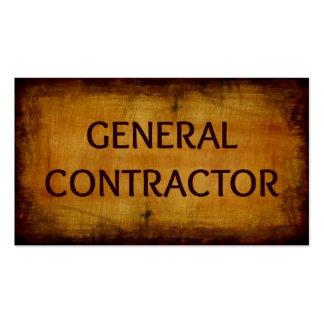 Tarjeta de visita de general Contractor