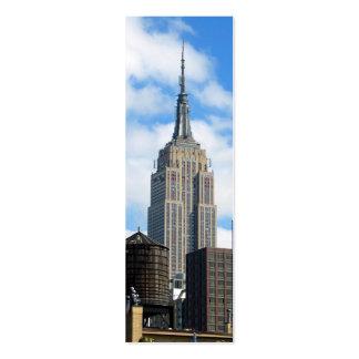 Tarjeta de visita de Geocache del Empire State Bui