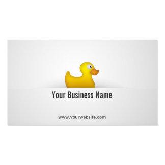 Tarjeta de visita de goma amarilla simple del pato