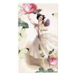 Tarjeta de visita de hadas de la bailarina