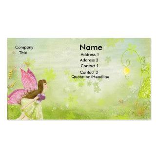 tarjeta de visita de hadas del jardín