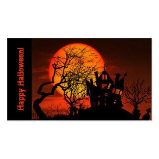 Tarjeta de visita de Halloween de la casa