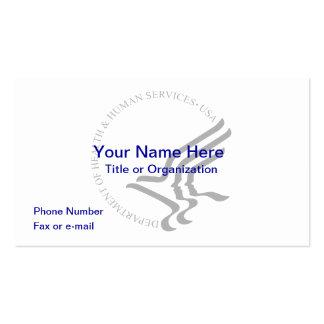Tarjeta de visita de HHS