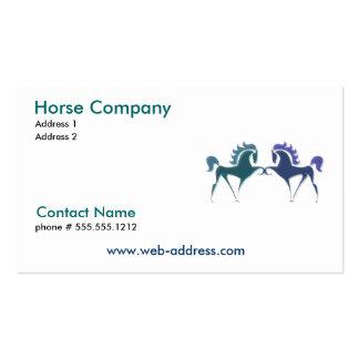 Tarjeta de visita de Horse Company