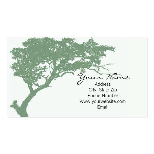 Tarjeta de visita de Hugger del árbol