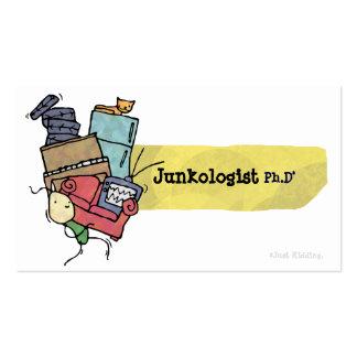 Tarjeta de visita de Junkologist Ph D