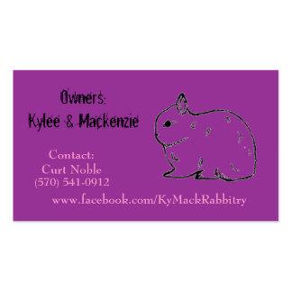 Tarjeta de visita de KyMack Rabbitry