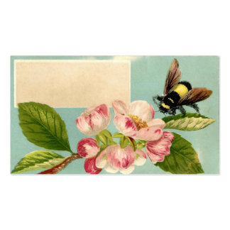 Tarjeta de visita de la abeja y de la flor del
