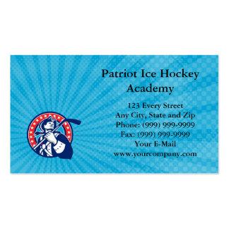 Tarjeta de visita de la academia del hockey sobre
