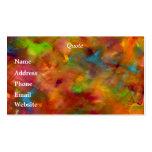 Tarjeta de visita de la acuarela del arco iris