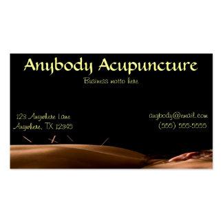 Tarjeta de visita de la acupuntura