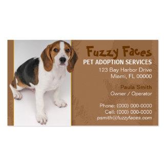 Tarjeta de visita de la adopción del mascota