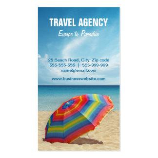 Tarjeta de visita de la agencia de viajes/del oper