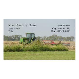 Tarjeta de visita de la agricultura
