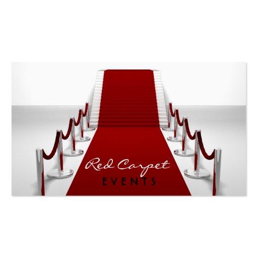 Tarjeta de visita de la alfombra roja