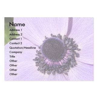Tarjeta de visita de la anémona de la lila