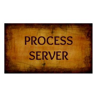 Tarjeta de visita de la antigüedad del servidor de