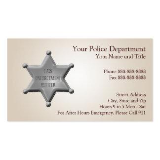 Tarjeta de visita de la aplicación de ley
