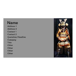 Tarjeta de visita de la armadura del samurai