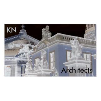 Tarjeta de visita de la arquitectura de la