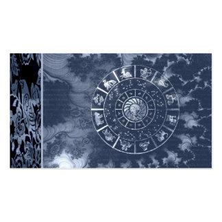 Tarjeta de visita de la astrología