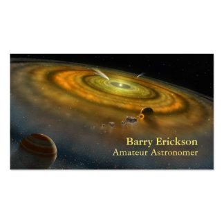 Tarjeta de visita de la astronomía
