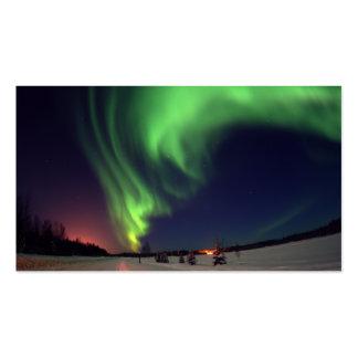 Tarjeta de visita de la aurora boreal