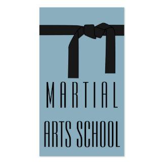Tarjeta de visita de la autodefensa del karate de