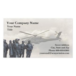 Tarjeta de visita de la aviación de ejército
