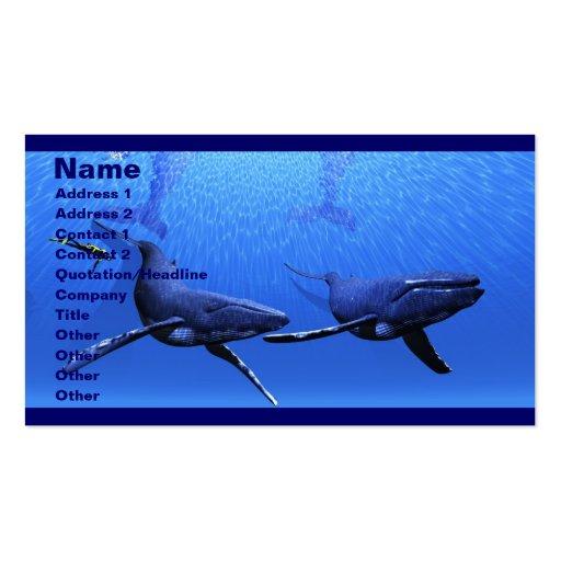 Tarjeta de visita de la ballena 01