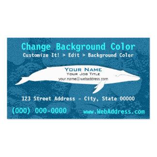 Tarjeta de visita de la ballena azul