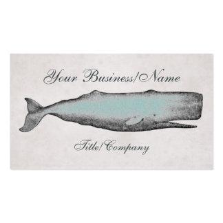 Tarjeta de visita de la ballena del Victorian del
