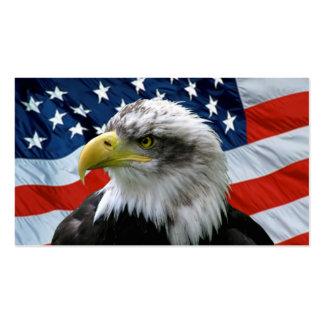 Tarjeta de visita de la bandera americana de Eagle