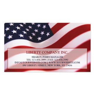 Tarjeta de visita de la bandera americana