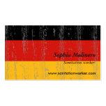 Tarjeta de visita de la bandera de Alemania