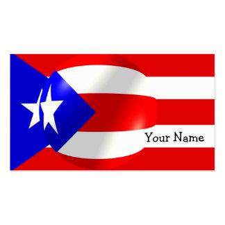 Tarjeta de visita de la bandera de Puerto Rico