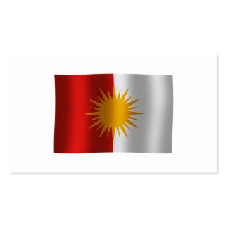 Tarjeta de visita de la bandera de Yezidi