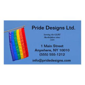 Tarjeta de visita de la bandera del orgullo gay