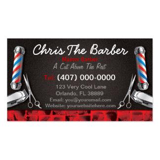 Tarjeta de visita de la barbería (polo y podadoras