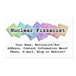 Tarjeta de visita de la barra - Fizzacist nuclear