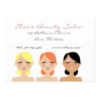 tarjeta de VISITA de la belleza