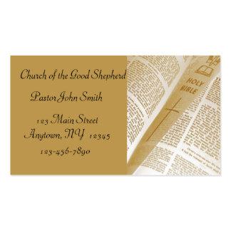 Tarjeta de visita de la biblia