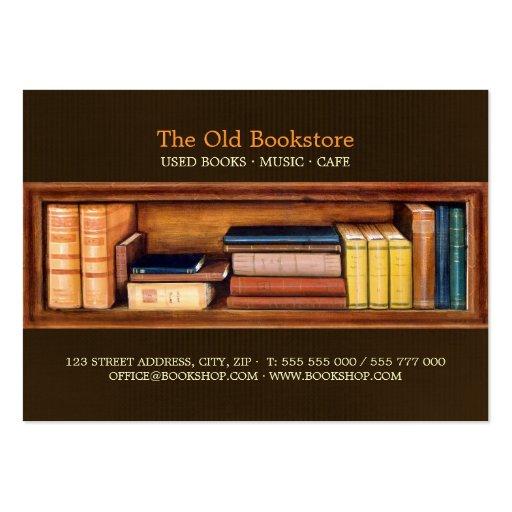 Tarjeta de visita de la biblioteca de la librería