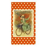 Tarjeta de visita de la bicicleta del vintage