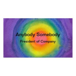 Tarjeta de visita de la blanco del arco iris