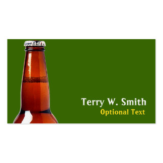 Tarjeta de visita de la botella de cerveza